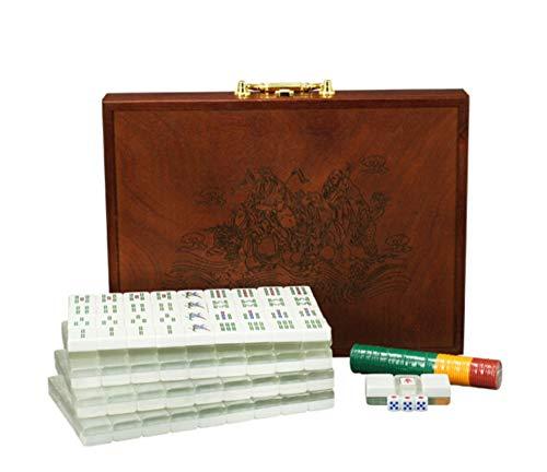 DING Acryl Mahjong Bunte Silber Gold Freizeit Unterhaltung Spielzeug Home Reise Wesentliche Holz Mahjong Aufbewahrungsbox