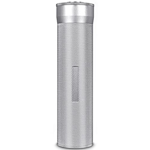 Portasigari Portatile Humidor, Tubo per sigari da Viaggio con Mini igrometro, portasigari in Acciaio Inossidabile, Contenere 3-4 sigari (Color : Sliver, Size : 20×5cm)