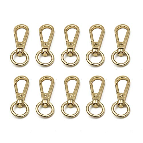 Pingdi - 10 anillas de metal giratorio, para bolso de mano, correa de mochila, accesorios de hebilla