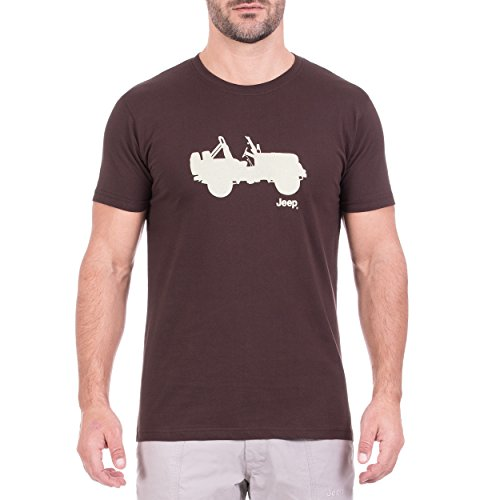 Jeep Messieurs Side Willys j8s T-Shirt M Black Coffe/Tender Yellow