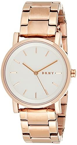 DKNY Damen Analog Quarz Uhr mit Edelstahl beschichtet Armband NY2344