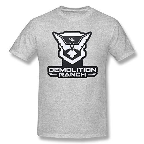 SymphonyLeak Demolition Ranch Men's Fashion Comfortable Cotton Short Sleeve T-Shirt Gray