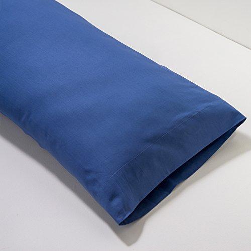 Sancarlos - Funda Almohada Azul Marino - Fácil Planchado - 100% Algodón - Combinables Entre Sí, Cama 150