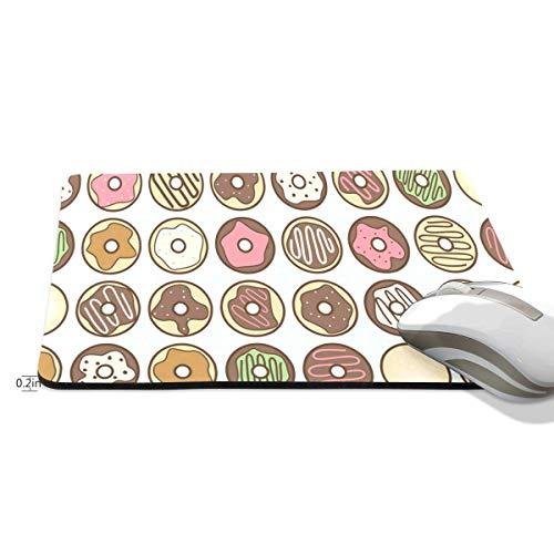 Grappige Muis Pad muizen pad Gepersonaliseerde Donut Chocolade Rechthoek Vorm Nonslip Rubber Backing voor Office Computer Werk, 9.8