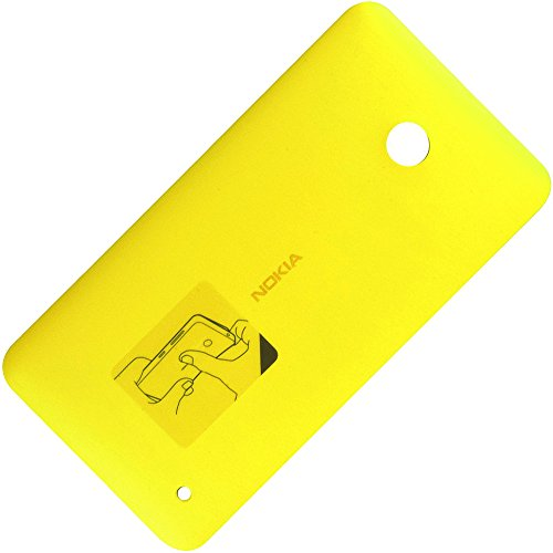 Nokia Lumia 630 Original Akkudeckel Matt Gelb Batterie-Deckel Back-Cover Rückschale Hintere Abdeckung Gehäuse