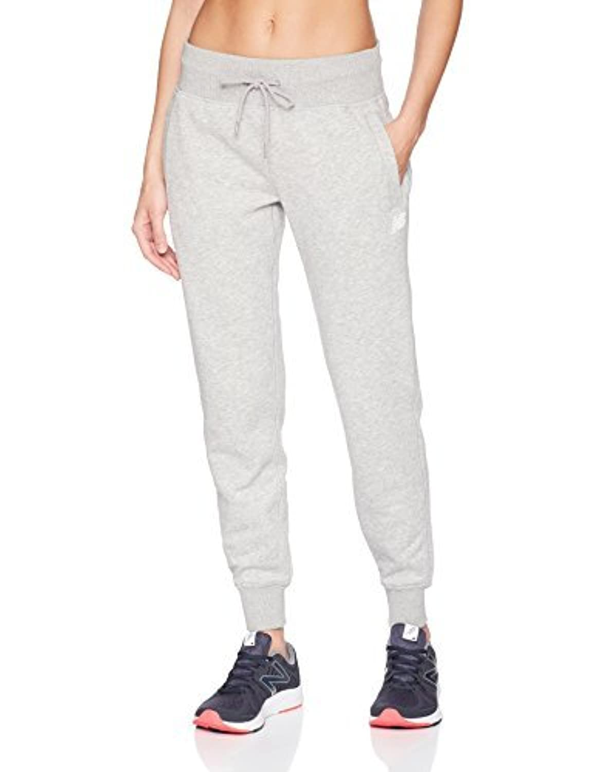 New Balance Women's Essentials Sweatpants Athletic Grey Large [並行輸入品]