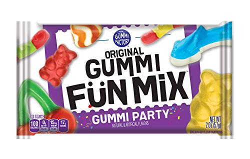 Original Gummi Fun Mix, Gummy Candy Snacks, Gummi Party, Bulk Pack, 2 oz Individual Single Serve Bags (Pack of 24)