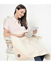 Radia Smart EMF Strålningsstrålning babyfilt, graviditet magskydd, ekologisk bomull, kräm, 75 x 90 cm