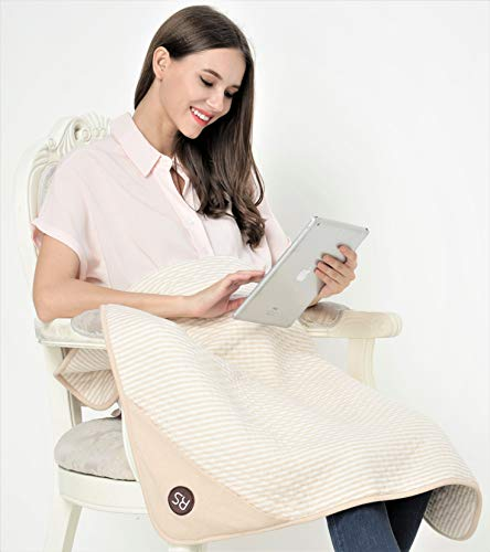 "Radia Smart 5G Anti-Radiation, EMF Protection Baby Blanket, Pregnancy Belly Shielding, Organic Cotton, Cream, 35""x30'"