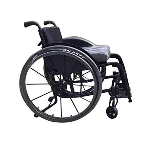 JZX Luxus Sport Rollstühle 12Kg Leichtgewicht Klapp Ergonomische Bequeme Armlehnen Schaukel,Schwarz,a
