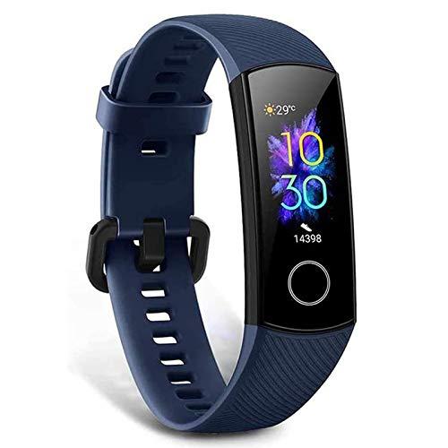 HONOR Band 5 smartwatch,Pulsera de Actividad Inteligente Reloj Impermeable IP68 con Pulsómetro,Monitor de Actividad Deportiva, Fitness Tracker con Podómetro Azul (Versión Global)
