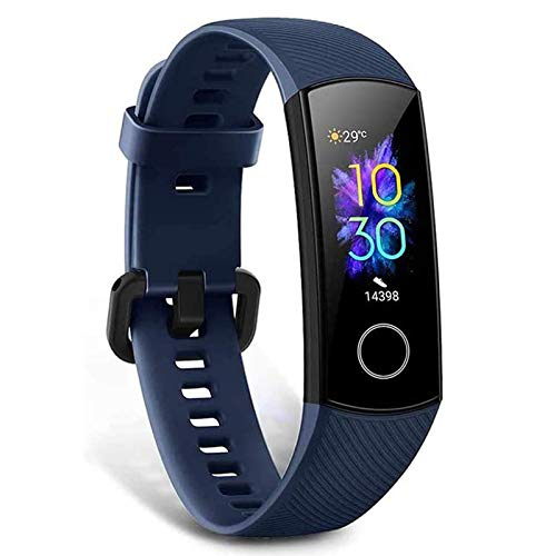 HONOR Band 5 Activity Tracker, Uomo Donna Smartwatch Orologio Fitness Cardiofrequenzimetro da Polso Impermeabile Smart Watch 0.95 Pollice Schermo a Colori,Blu