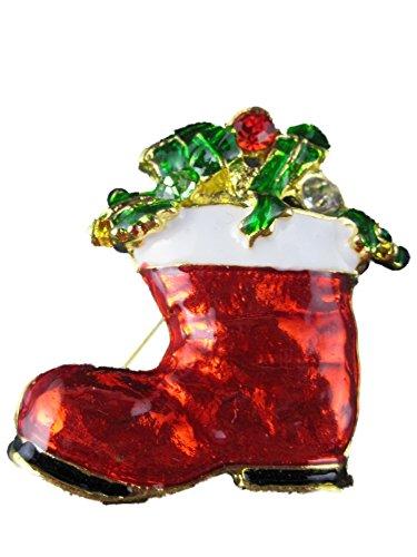 Brosche/Anstecknadel/Pin Weihnachten Weihnachtsschmuck Stiefel gefüllt Heilig Abend B207