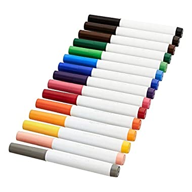 Amazon Basics Broad Line Washable Markers, 15 Colors