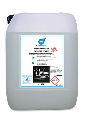 KaiserRein Abflussreiniger & Rohrreiniger 10 L Kanister Profi Rohrreiniger flüssig & Chlorfrei, Abflussreiniger flüssig