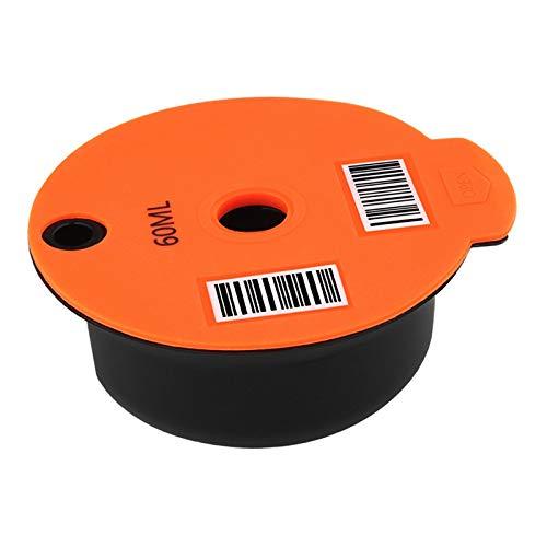 FLAMEER Cápsulas de café recargables lavables para malla de acero inoxidable Bosch tassim, 2 tipos disponibles - 60ml