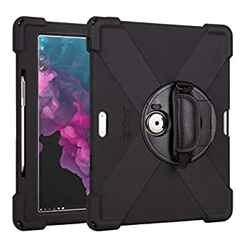 The Joy Factory aXtion Bold MP Water-Resistant Rugged Shockproof Case for Microsoft Surface Pro 7   Pro 6   Pro 5 Built-in Screen Protector Hand Strap Kickstand  CWM302