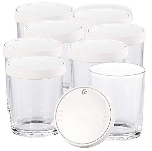 PEARL Zubehör zu Joghurt-Maschine: Ersatz-Gläser für PEARL Joghurt Maker, 8er-Set, je 150 ml (Joghurt-Zubereiter)