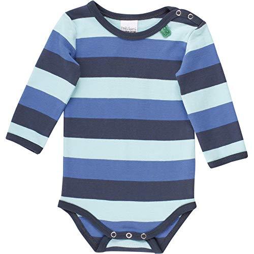 Fred'S World By Green Cotton Multi Stripe Body, Multicolore (Blue 019403901), 62 Bébé garçon