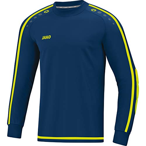 JAKO Kinder Striker 2.0 Tw-Trikot, Navy/Lemon, 128