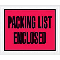 Boxes Fast BFPL402 Packing List Enclosed (Full Face) Envelopes Load Capacity 4.5 Length 5width Thick Red (Pack of 1000) [並行輸入品]