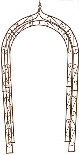Alt Mebel Ihr Gartentraum Überleitung breit 140 cm, Höhe 255 cm, Gewicht 28 kg, Tiefe 36 cmRosenbogen Edelrost Massiv Eisen Gute Qualität Stabil 160 cm 12 mm Stabil