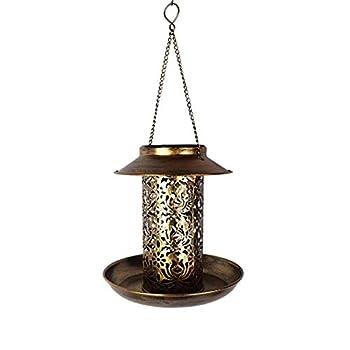 XNBZJ Solaire alimenté à Oiseaux d'oiseau Lumineux imperméable Vintage Suspendu extérieure de la Lampe Solaire de la Forme Sensible Sensible Capteur contrôle de Jardin Solaire