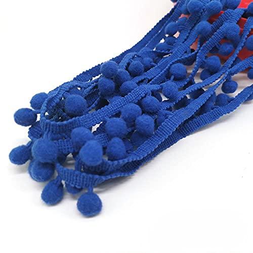 Cinta de encaje con pompón de 1 a 5 yardas de tela de pompón de encaje de tela hecha a mano para manualidades, 1 yarda, 3