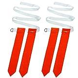 Abaodam Lot de 2 ceintures de football américain pour adultes - Accessoires pour jeux tactiles et entraînements (ceinture blanche avec drapeaux rouges)