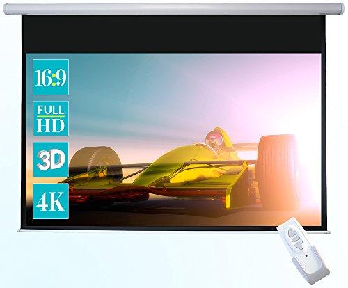 celexon Basic eléctrica- Pantalla motorizada óptima para Cine en casa, presentaciones, Escuela y Negocios, Incluido el Mando a distancia-240 x 135cm - 16:9