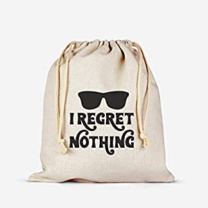 I Regret Nothing Hangover Kit Bachelorette Party Favor Hang over Gift Bags Wedding Cotton Muslin Welcome Favors Recovery Kit Bags by