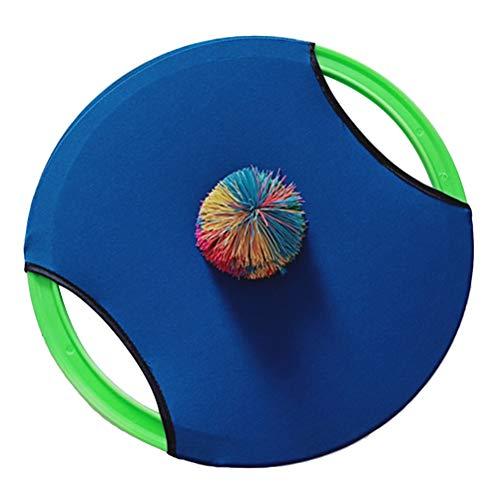 LIOOBO 1 stück Paddle Tennis Spielzeug Ball Werfen und Fangen Sport Ball Werfen Fangen Bat Ball Spiel Set Spielzeug Spiel Set für Kind (Blau)
