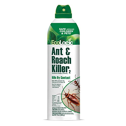 EcoLogic HG-75028-1 Ant & Roach 14 Oz Ant and Roach Killer Aerosol, Kills on Contact, Pack of 1