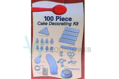 Cake Kit 100 pièces Decora Design crée forme Taille pâte de sucre