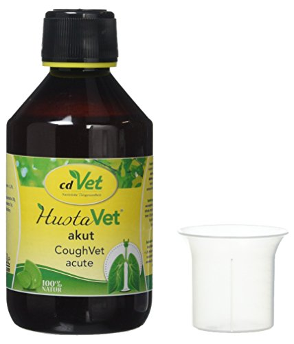 cdVet Naturprodukte HustaVet Acut 250 ml - zelfreinigende mechanisme van bronchia - slijmvliezen van de luchtwegen - vitamine C leverancier - immuunsysteem - voor paarden met gevoelige luchtwegen -