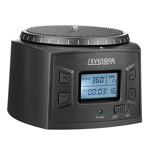 sevenoak  SK-EBH2000  自動回転 雲台 LEDスクリーン表示 SK-EBH01 PROバージョンアップ版 タイムプラス パノラマ コマ送り撮影 軽量 単3電池 USBケーブル 日本語説明書付き  iphone Canon Nikon Sonny Pentax DSLR  対応