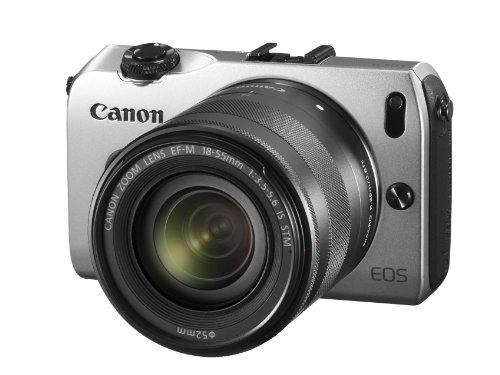 """Canon EOS Appareil photo numériques hybride 18 Mpix Écran LCD 3"""" 1,5 X Argent"""