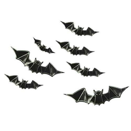 VORCOOL 24 Pezzi Adesivi 3D Pipistrello Bagliore al Buio Pareti di Pipistrello di Halloween con Adesivi Pipistrello Spaventoso per Feste Soggiorno Camera da Letto Festival