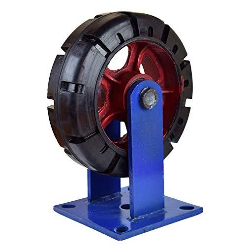 Ruedas de ruedas industriales para uso pesado, ruedas giratorias de los muebles de goma antideslizante, pisadas de las venas de los neumáticos, placa superior del rodamiento de bolas, capacidad de 240