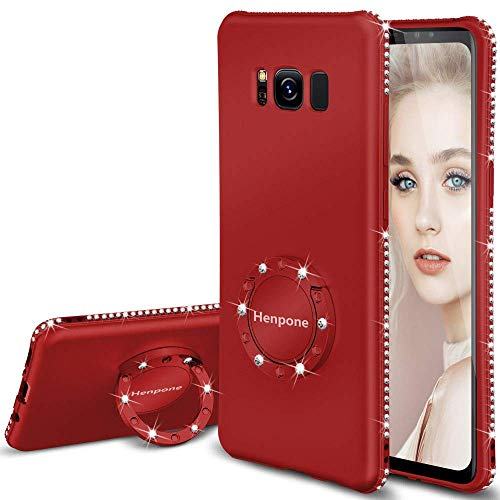 Galaxy S8 Plus Case Glitter Girly Cases for Women Girls with Kickstand Ring Stand Luxury Diamond Sparkle Bling Samsung Galaxy S8 Plus Phone Case