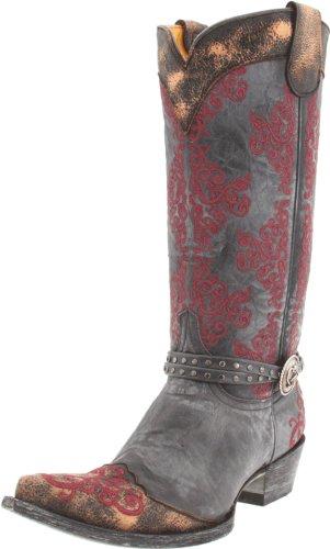Old Gringo Damen L1000 Stiefel, Schwarz (schwarz/red), 37.5 EU