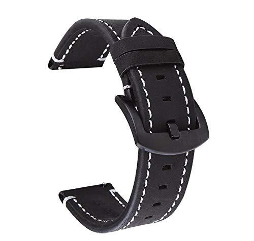 Doweiss - Correa de piel para Huawei Watch GT/GT 2 46 mm, correa de repuesto de 22 mm, piel Quick Fit para Gear S3 Fronteri/Classic/Moto 360 2nd Gen 46 mm/Galaxy Watch 46 mm/Galaxy Watch 3 45 mm