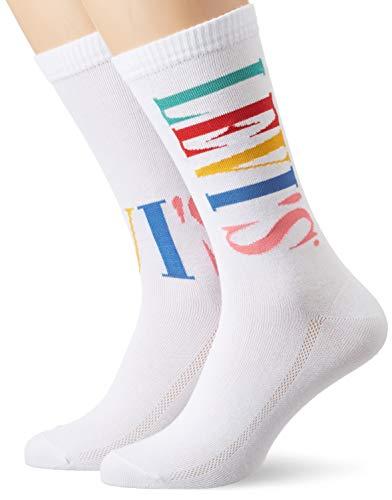 Levi's Herren LEVIS REGULAR CUT TALL LOGO 2P Socken, Mehrfarbig (Mixed Colors 011), 43/46 (Herstellergröße: 043) (2er Pack)