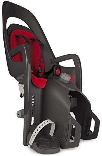 HAMAX Caress Fahrradsitz Kind hinten rot Gepäckträgermontage Kindersitz