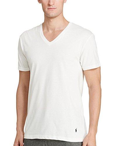 Polo Ralph Lauren Men's Classic V-Neck Undershirts 3-Pack