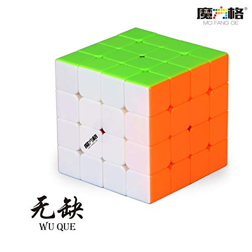 QiYi WuQue Stickerless 4x4x4 Speed Competition Magic Cube Puzzle Toy Educational Toy for Children...