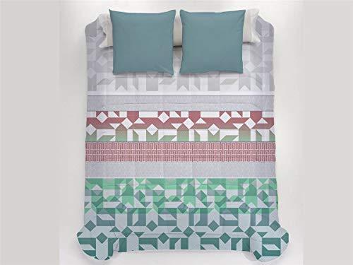 JAVIER LARRAINZAR Edredón Conforter Tripoli 90-Color Verde, Cama 90 cm
