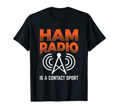 Jamón Radio es un contacto Sport Morse Code Operator Camiseta