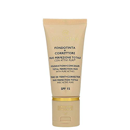 Collistar Face Foundation + Concealer Duo LSF 15 F lüssige Foundation NR. 5 - MIELE 31,5 ml