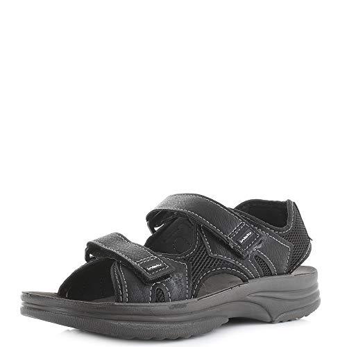 INBLU Sandalo Doppio Strappo Uomo RY25 Nero (41 EU)